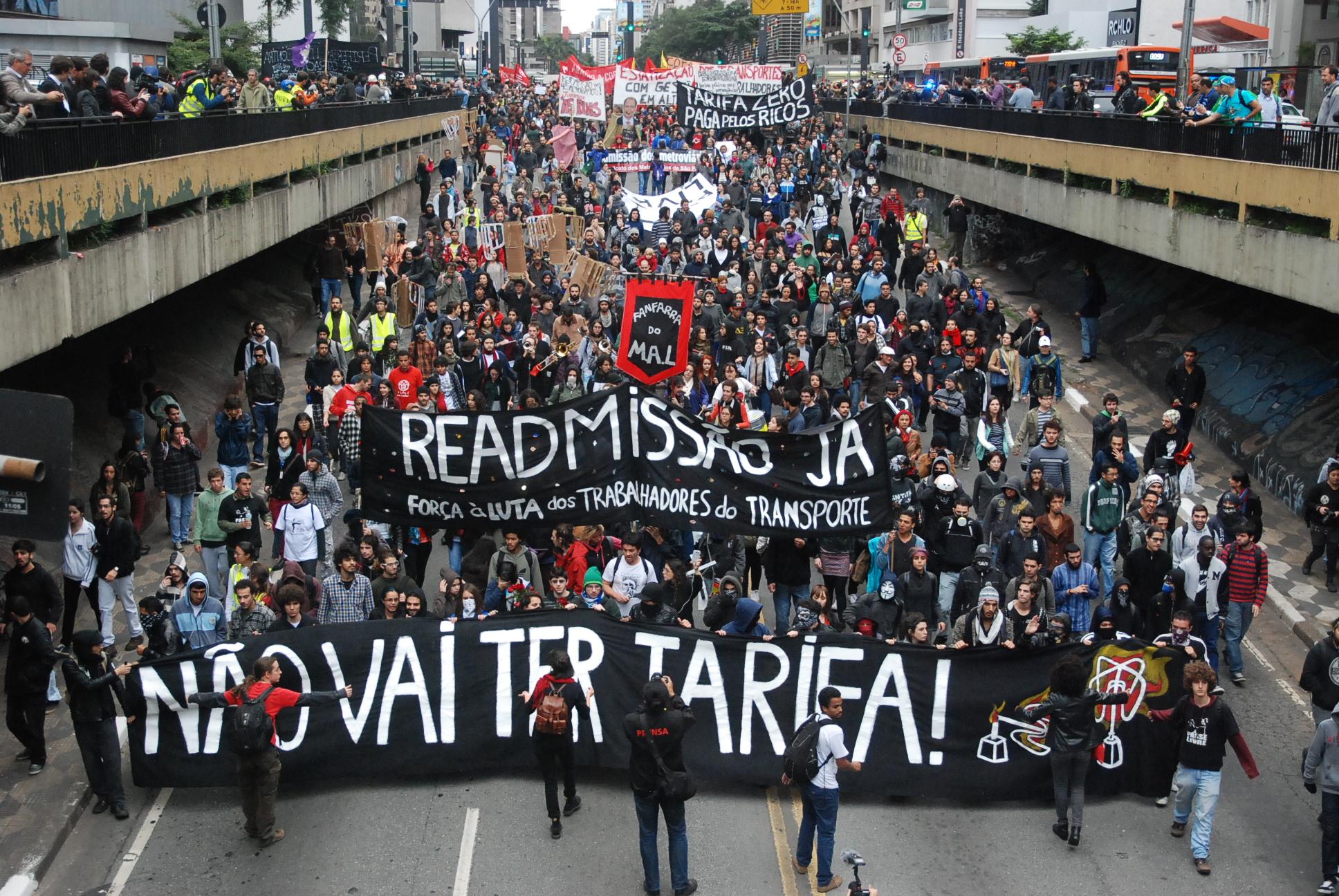 Resultado de imagen para movimento paso livre brasil